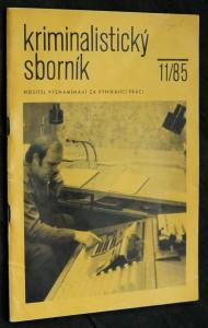 náhled knihy - Kriminalistický sborník, ročník XXIX. č. 11.