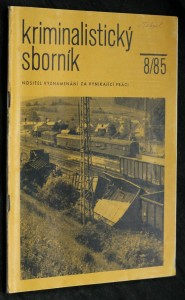 náhled knihy - Kriminalistický sborník, ročník XXIX. č. 8.