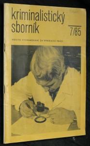 náhled knihy - Kriminalistický sborník, ročník XXIX. č. 7.