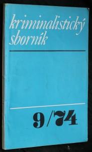 náhled knihy - Kriminalistický sborník, ročník XVIII. č. 9.