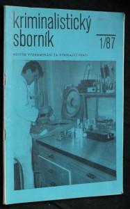 náhled knihy - Kriminalistický sborník, ročník XXXI. č. 1.