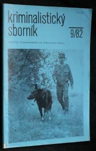náhled knihy - Kriminalistický sborník, ročník XXVI. č. 9.
