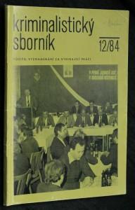 náhled knihy - Kriminalistický sborník, ročník XXVIII.. č. 12.