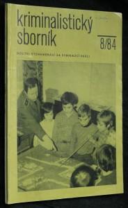náhled knihy - Kriminalistický sborník, ročník XXVIII. č. 8.