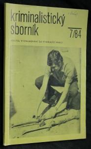 náhled knihy - Kriminalistický sborník, ročník XXVIII. č. 7.