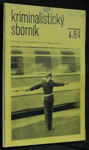 náhled knihy - Kriminalistický sborník, ročník XXVIII. č. 4.
