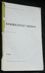 náhled knihy - Kriminalistický sborník, ročník XXVIII. č. 1.