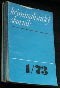 náhled knihy - Kriminalistický sborník 1.-12. číslo (chybí 3, 4, 6, 7, 12)