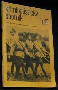 náhled knihy - Kriminalistický sborník, ročník XXIX. č. 4.