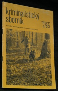 náhled knihy - Kriminalistický sborník, ročník XXIX. č. 2.