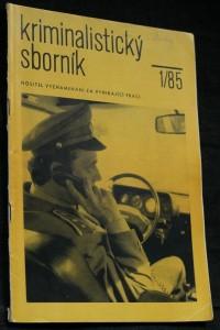 náhled knihy - Kriminalistický sborník, ročník XXIX. č. 1.