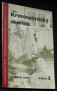 náhled knihy - Kriminalistický sborník, č. 3.