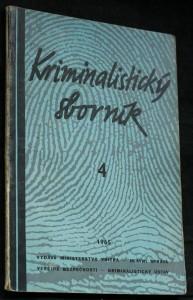 náhled knihy - Kriminalistický sborník, č. 4.