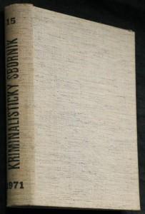 náhled knihy - Kriminalistický sborník 1.-12. číslo (chybí 1.-6, 9.)