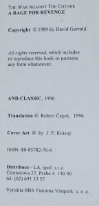 náhled knihy - Zlost tiší pomsta, 1996