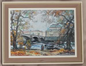 náhled knihy - Podzim v praze - Národní divadlo - profesor Oldřich Zezula akad. malíř 1978