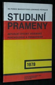 náhled knihy - Studijní prameny. Aktuální otázky vojenské psychologie a pedagogiky