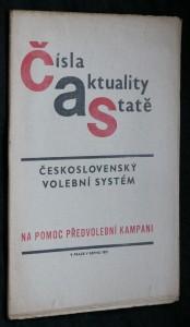 náhled knihy - Čísla, aktuality, statě. Československý volební systém na pomoc předvolební kampani.