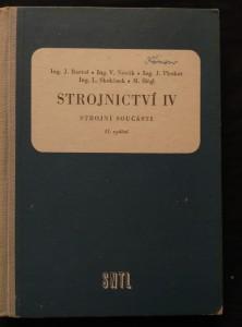 náhled knihy - Strojnictví IV - Strojní součásti (Oppl, 220 s., 442 obr., 7 tab.)