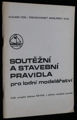 náhled knihy - Soutěžní a stavební pravidla pro lodní modelářství