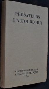 náhled knihy - Prosateurs d'aujourd'hui
