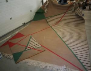 náhled knihy - Antonín Kybal, velký koberec 345 x 244 cm s předložkou