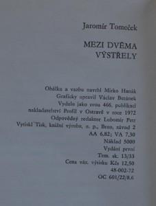 antikvární kniha Mezi dvěma výstřely, 1972