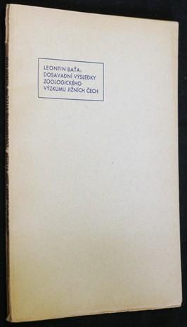 náhled knihy - Dosavadní výsledky zoologického výzkumu Jižních Čech