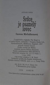 antikvární kniha Srdce je osamělý lovec, 1995