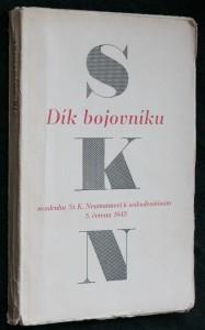 náhled knihy - Dík bojovníku soudruhu S.K. Neumannovi k sedmdesátinám 5. června 1945 : Sborník