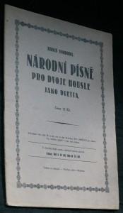 náhled knihy - Národní písně pro dvoje housle jako duetta