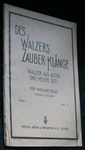 náhled knihy - Des walzers zauber-klänge. Wakzer aus alter und neuer zeit für violine solo