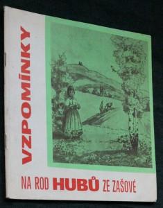 náhled knihy - Vzpomínky na rod Hubů ze Zašové