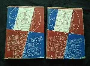 náhled knihy - Dějiny francouzské literatury I, II (A4, Oppl, 260, 232 s., ob a vaz J. Benda, typo S. Kohout)