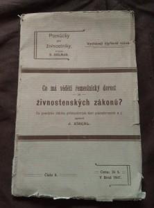 náhled knihy - Co má věděti řemeslnický dorost ze živnostenských zákonů? - Pomůcky pro živnostníky 8/1907 (Obr, 36 s.)