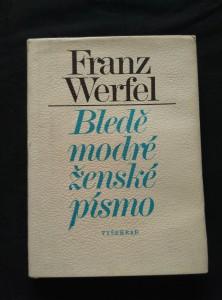 náhled knihy - Bledě modré ženské písmo (Ocpl, 140 s., ob. J. Solpera)