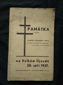 náhled knihy - Památka na svěcení sociálního zdravotního ústavu milosrdných sester III. řádu sv. Františka na Velkém Újezdě 28. září 1937