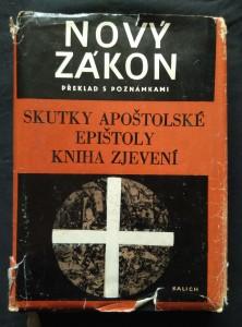 Nový zákon - Skutky apoštolské, epištoly, Kniha zjevení - překlad s poznámkami (Obr, 312 s.)