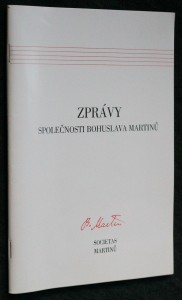 náhled knihy - Zprávy společnosti Bohuslava Martinů