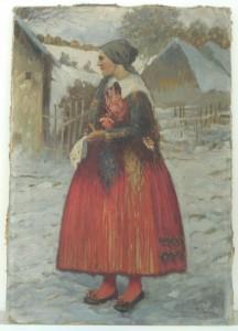 náhled knihy - Josef Jiří Kamenický, olej (signováno H. Lískovec)