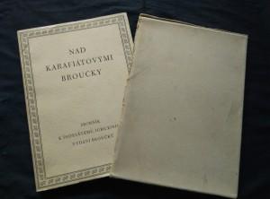 náhled knihy - Nad Karafiátovými Broučky - k 50. vydání (Obr., 144 s. text a 28 příloh)