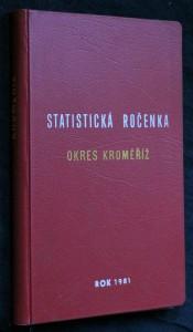 náhled knihy - Statistická ročenka okres Kroměříž 1981