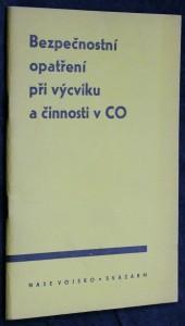 náhled knihy - Bezpečnostní opatření při výcviku a činnosti v CO