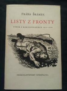náhled knihy - Listy z fronty - výbor z korespondence 1915 - 18 (Ocpl, 210 s, 8 s. obr. příl.)