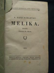 antikvární kniha Melika, 1934