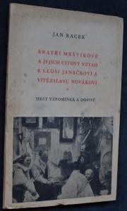 náhled knihy - Bratří Mrštíkové a jejich citový vztah k Leoši Janáčkovi a Vítězslavu Novákovi : hrst vzpomínek a dopisů
