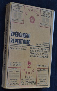 náhled knihy - Zpěvoherní repertoire : Stručné obsahy českých a cizích oper pro návštěvníky divadla a posluchače rozhlasu