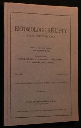 náhled knihy - Entomologické listy ročník XII