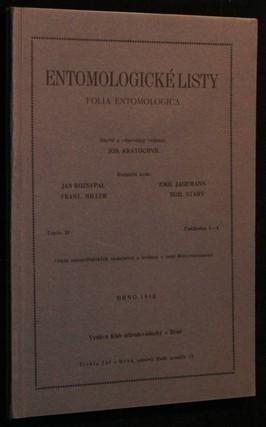 náhled knihy - Entomologické listy ročník XI