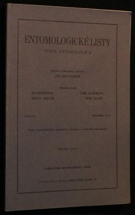 náhled knihy - Entomologické listy ročník X